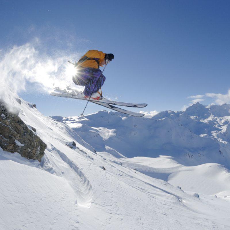Freeriding Offpiste Trois Vallees Skifahren Freeridecamp